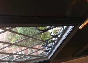 Porte d'entrée  aluminium tiercé Coloris 7016 Gris Anthracite
