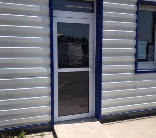 Porte d'entrée de magasin aluminium